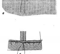 Припосадка подогнутого края с помощью шнура